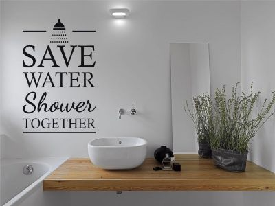 Bathroom Wall Art Quote